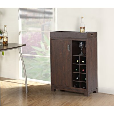 Groff Bar Cabinet with Wine Storage