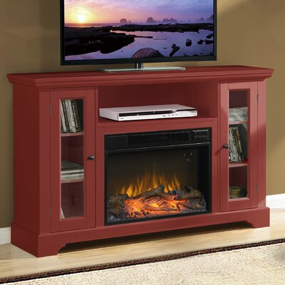 Enoch Media 51 TV Stand with Fireplace Finish: Sienna Red