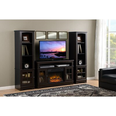 Dondre 45 TV Stand with Fireplace Finish: Espresso