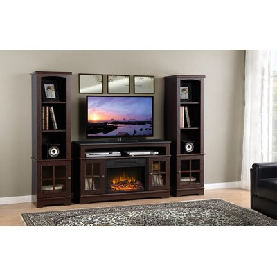 Dondre 45 TV Stand with Fireplace Finish: Walnut