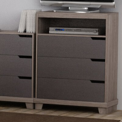 Waterloo 3 Drawer Media Chest Color: Sonoma/Java Brown