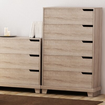 Waterloo 5 Drawer Chest Color: Sonoma