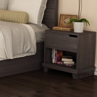 Waterloo 1 Drawer Nightstand Finish: Java Brown