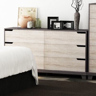 Waterloo 6 Drawer Chest Color: Java Brown/Sonoma