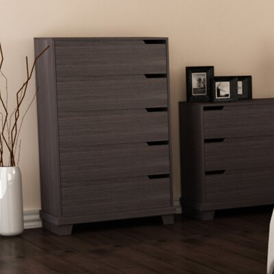 Waterloo 5 Drawer Chest Color: Java Brown