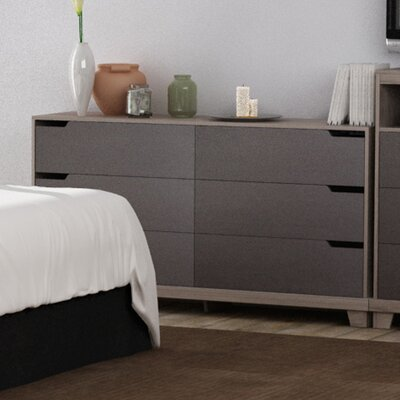 Waterloo 6 Drawer Chest Color: Sonoma/Java Brown