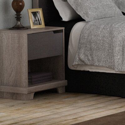 Waterloo 1 Drawer Nightstand Finish: Sonoma/Java Brown