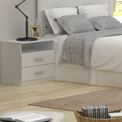 Alexander 2 Drawer Nightstand Finish: Polar White
