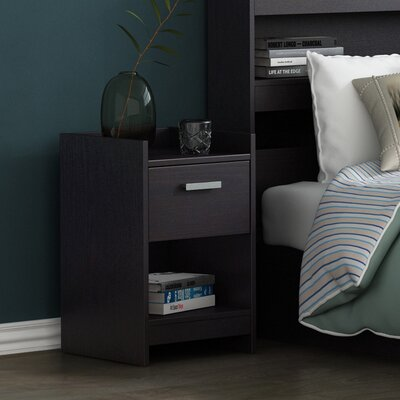 Central Park 1 Drawer Nightstand Finish: Black Brown