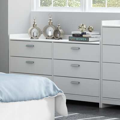 Central Park 6 Drawer Dresser Finish: Frost White