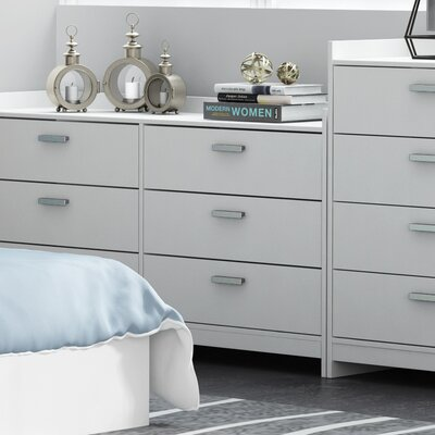 Central Park 3 Drawer Chest Finish: Frost White