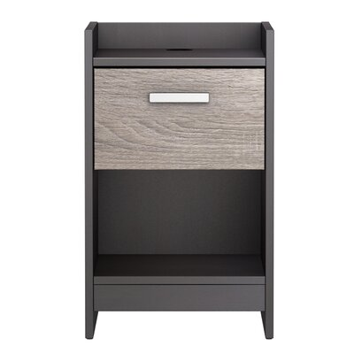 Central Park 1 Drawer Nightstand Finish: Java Brown/Sonoma