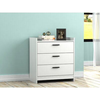 Central Park 3 Drawer Chest Color: Frost White