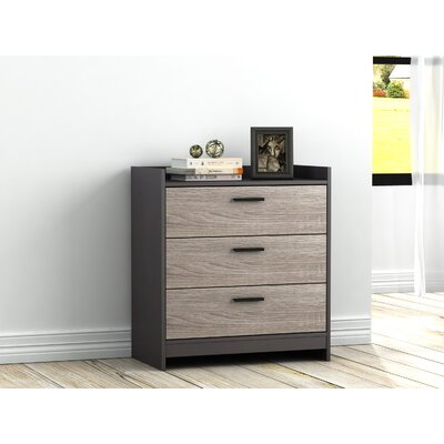 Central Park 3 Drawer Chest Color: Java Brown/Sonoma