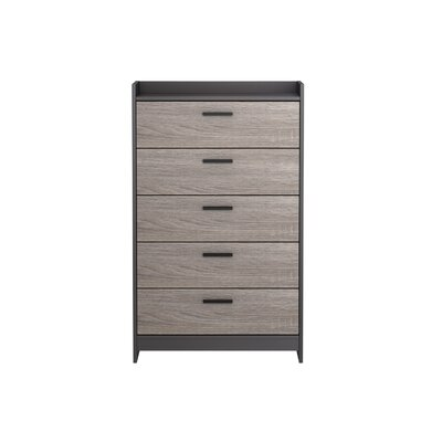 Central Park 5 Drawer Chest Color: Java Brown/Sonoma