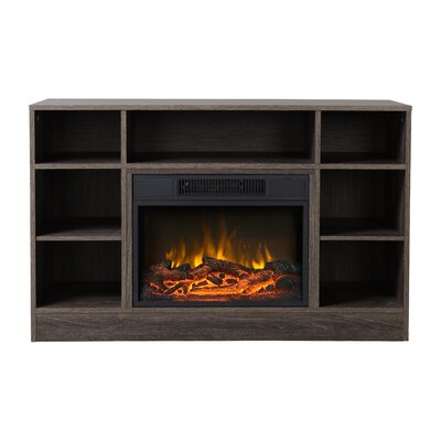 Oakley Media Electric Fireplace TV Stand Finish: Brown
