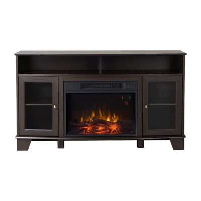 Wilson Media Electric Fireplace TV Stand Finish: Dark Brown