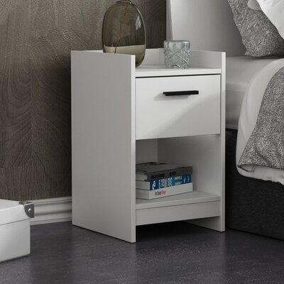 Central Park 1 Drawer Nightstand Color: Frost White