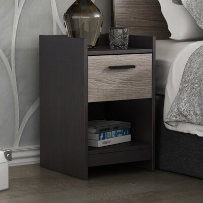 Central Park 1 Drawer Nightstand Color: Java Brown/Sonoma
