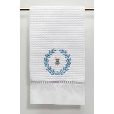 Waffle Weave Guest Hand Towel Color: Duck Egg Blue