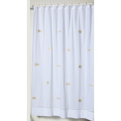 Cantillo 100% Cotton Shower Curtain Color: White/Yellow