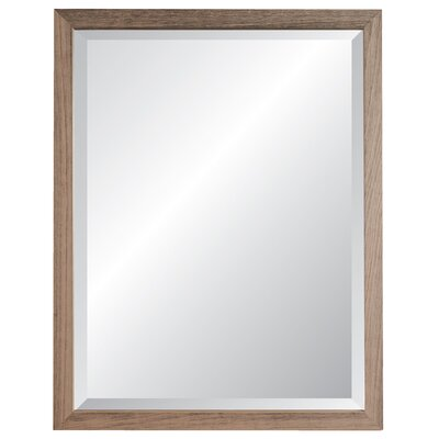 "Nantucket Wall Mirror Size: 38"" H X 26"" W X 1.2"" D, Finish: Weathered White"