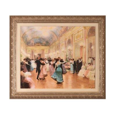 'Elegant Soiree' Simulated Oil Painting Framed Art on Canvas