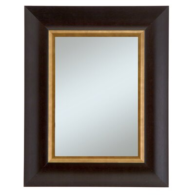 Manford Wall Mirror Color: Dark Walnut with Gold