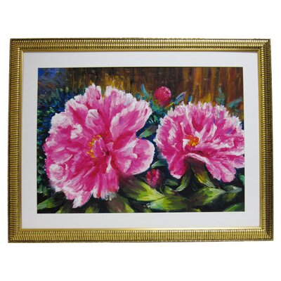 Premier Blooming Peony Framed Painting Print