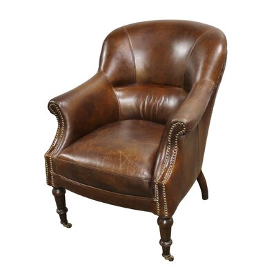 Anniston Leather Cube chair