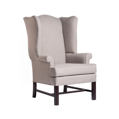 Walsh Chippendale Wingback Chair Upholstery: Linen