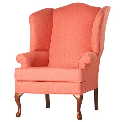 Alanya Wingback Chair Finish: Coral