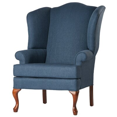 Alanya Wingback Chair Finish: Prussian Blue