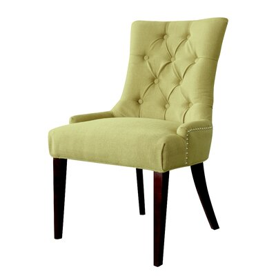 Bertram Tufted Side Chair Color: Kiwi