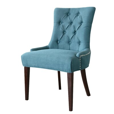 Bertram Tufted Side Chair Upholstery: Ocean