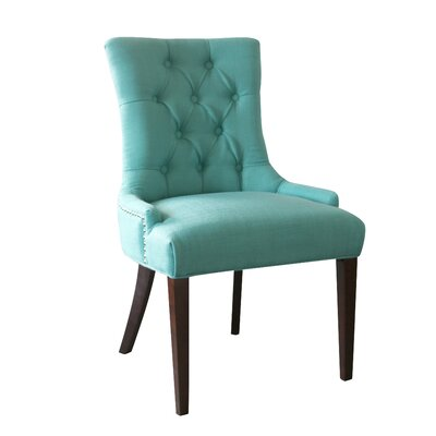 Bertram Tufted Side Chair Color: Caribbean
