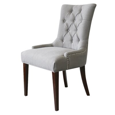 Bertram Tufted Side Chair Upholstery: Granite