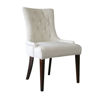 Bertram Tufted Side Chair Color: Snow