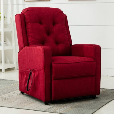 Paxton 3 Position Lift Chair Color: Red