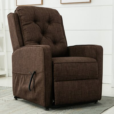 Paxton 3 Position Lift Chair Color: Brown