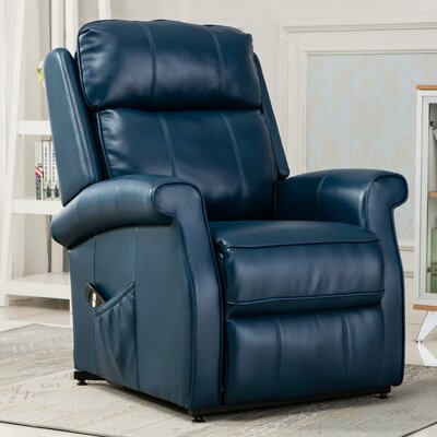 Lehman Lift Chair Color: Navy Blue