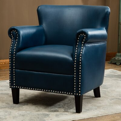 Waite Club Chair Upholstery: Navy Blue
