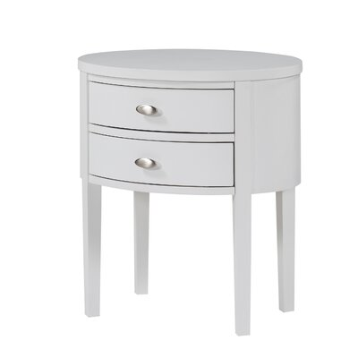 Rossiter 2 Drawer Nightstand Finish: White