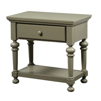 Lia 1 Drawer Nightstand Finish: Antique Green
