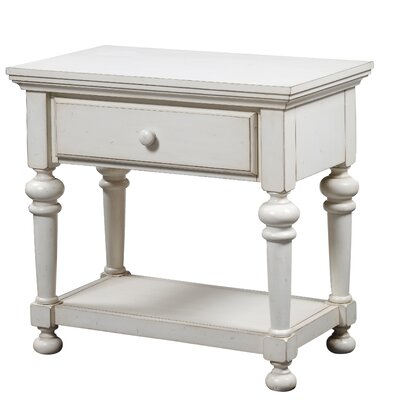 Lia 1 Drawer Nightstand Finish: Antique White