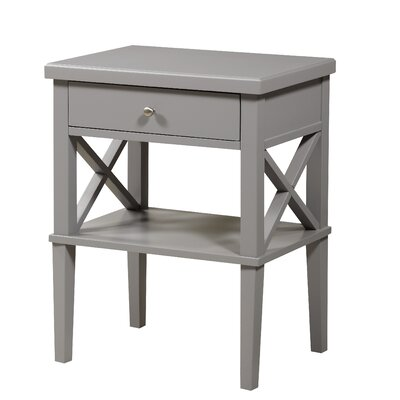 Silvestri 1 Drawer Nightstand Color: Gray