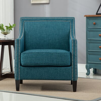 Turberville Club Chair Upholstery: Teal