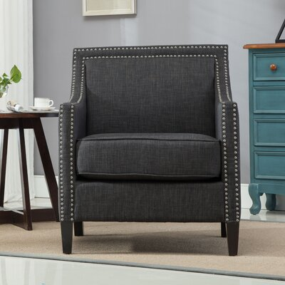 Turberville Club Chair Upholstery: Charcoal