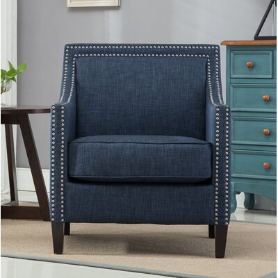Turberville Armchair Upholstery: Navy Blue