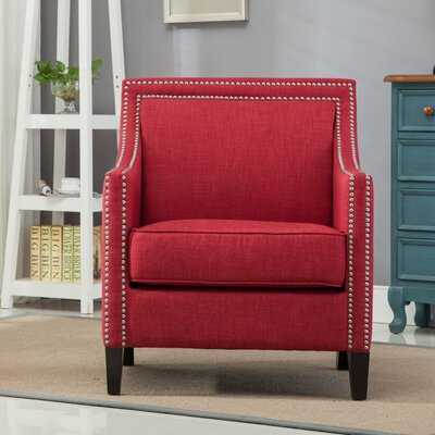 Turberville Armchair Upholstery: Red